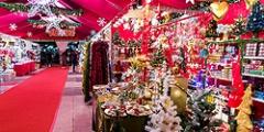 Mercado de artesania y productos navideños